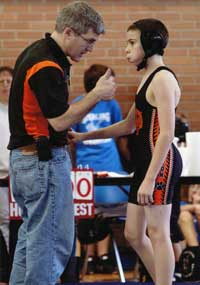 Coaching Young Wrestlers